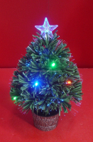 Table Decorative Fiber Optic Small Christmas Trees