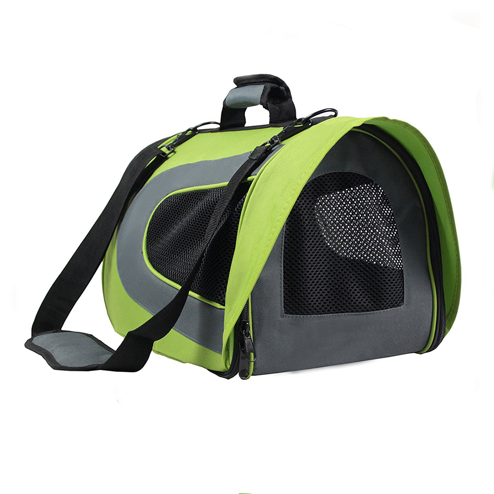 Airline Approved Comfort 17 Inch Soft Sided Foldable Cage Portable Bag Pet Travel Carrier For Dogs Cats Puppies