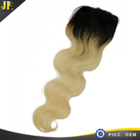 Permanent color high density body wave 99j hair closure
