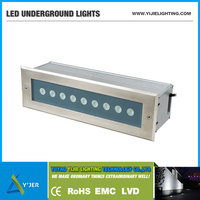 YJD-0014 IP67 IP65 RGB 9W waterproof wireless dmx inground LED linear uplight