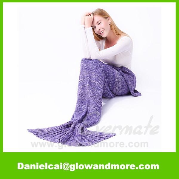 Best selling High quality crochet mermaid tail blanket