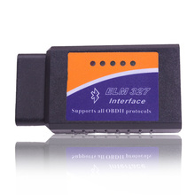 2016 Top selling OBD2 Bluetooth Black OBD2 Smart Car Diagnostic Interface ELM 327 Wireless Scan Tool OEM order