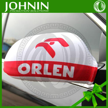red and white color printing suits all cars decorate use advertise car side mirror cover