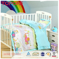 Hot selling cartoon printed cheap baby crib bedding sets girl