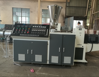 SJSZ series conical twin-screw extruder for plastic extrusion line