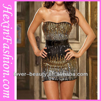 Wholesale Sexy Ombre Shiny Gold Formal Evening Dress