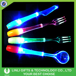 Promotional Cheap Platic OEM LED Glow Light Tableware For Event & Party
