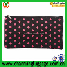 Black and Pink Polka Dots multipurpose travel toiletry bag