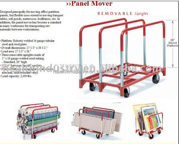"27""X 38"" Panel Cart With Three Removable Handles"