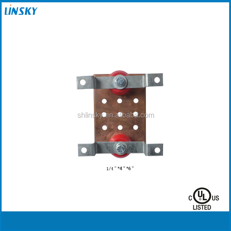 "Wholesale US 4""*6"" Type Common Mini Grounding Electrical Copper Busbar Insulator"