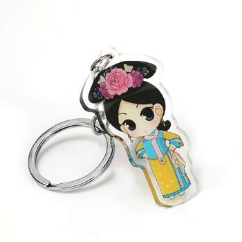 2019 YiWu Clear Acrylic Charms Glitter/ Anime Charm Customized /Epoxy Coating Acrylic Keychains Vograce