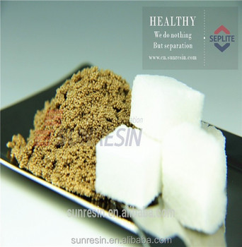 High quality cane sugar refining decoloring ion exchange resin