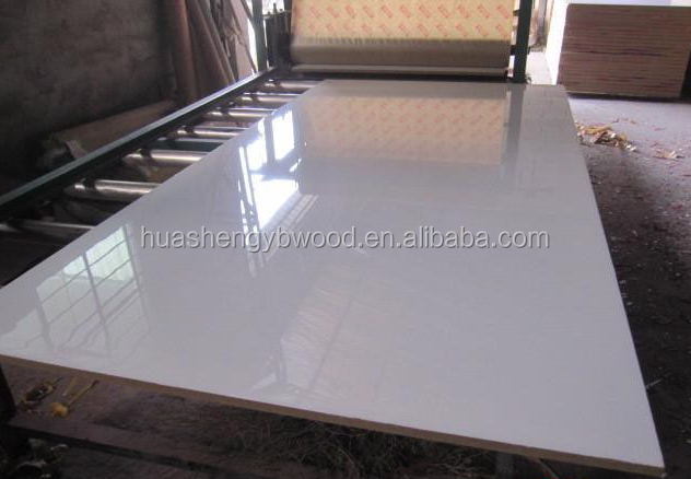 18mm Best price high glossy UV MDF for kitchen cabinet