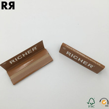 Custom brand 100% Natural Smoking raw rolling Papers