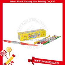 Sour Long Gummy Stick Candy with Powder Straw