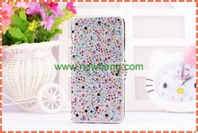 Bling Crystal Rhinestone Wallet Leather Flip Stand Case For iPhone6S
