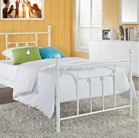 wrought iron metal modern furniture bed with low price