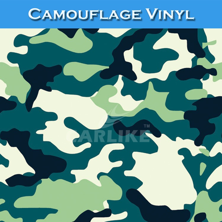 CARLIKE High Flexibility Car Wrap Paper Camouflage Vinyl Film