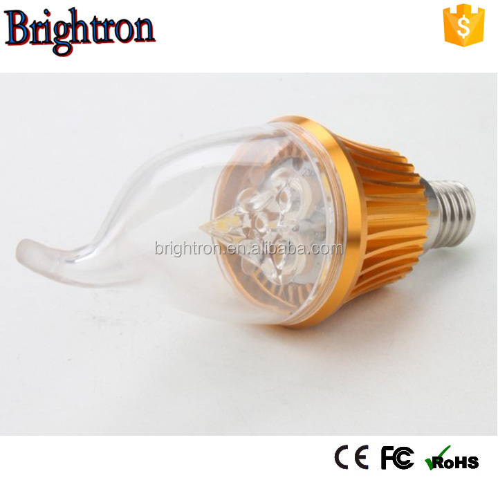 china supplier 3W UL CE candle E27 led filament bulb e14 dimmable led filament bulb