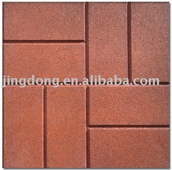 New Rubber Floor Tiles Brick Top Pattern Rubber Tile View