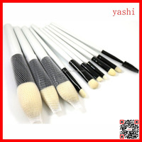 YASHI 10pcs Pro White Makeup Brushes Powder Eyeshadow Blush Brush Tool