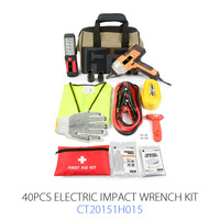 40pcs High QualityEmergency Kit Safety With Electric Impact Wrench For Roadside Repairing