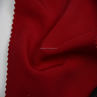 plain dyed fake silk red drapery polyester twill fabric