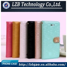 LZB Free Sample High quality PU flip leather case for Samsung galaxy grand 2