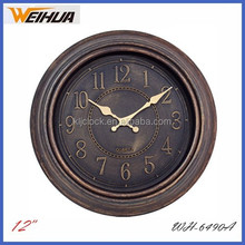 "12"" antique art wall clock for promotion gift"