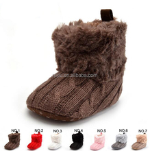 2016 winter new style warm knitting wool boots baby shoe
