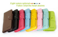 for iphone 5 Cheap Full Body Flip Wallet Card-slot PU Leather Cell Mobile Phone Case