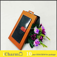 kraft plastic packaging box for phone case with clear window