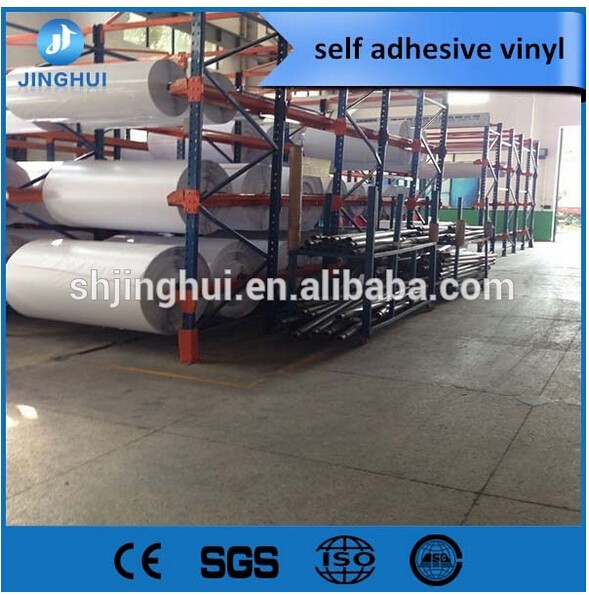Haining Factory supplying 70/80/100micron PVC Self Adhesive vinyl