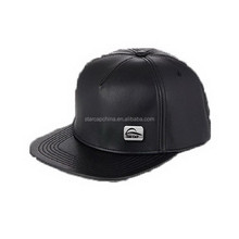2015 DESIGN BLACK LEATHER PLAIN BASEBALL SNAPBACK CAPS AND HATS
