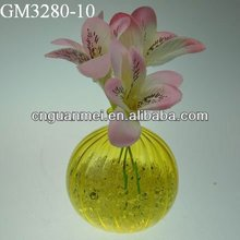 Wholesale mouth blown clear cheap glass flower vases