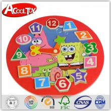 most selling product in alibaba educational building block wooden clock model toy