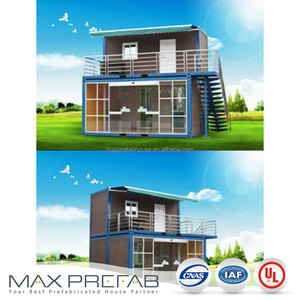 Flat Pack Container Coffee Shop Fast Constructed Prefabricated Steel House