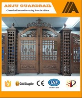 Luxury Custom design Aluminum main entrance gate design for Villa AJLY-612