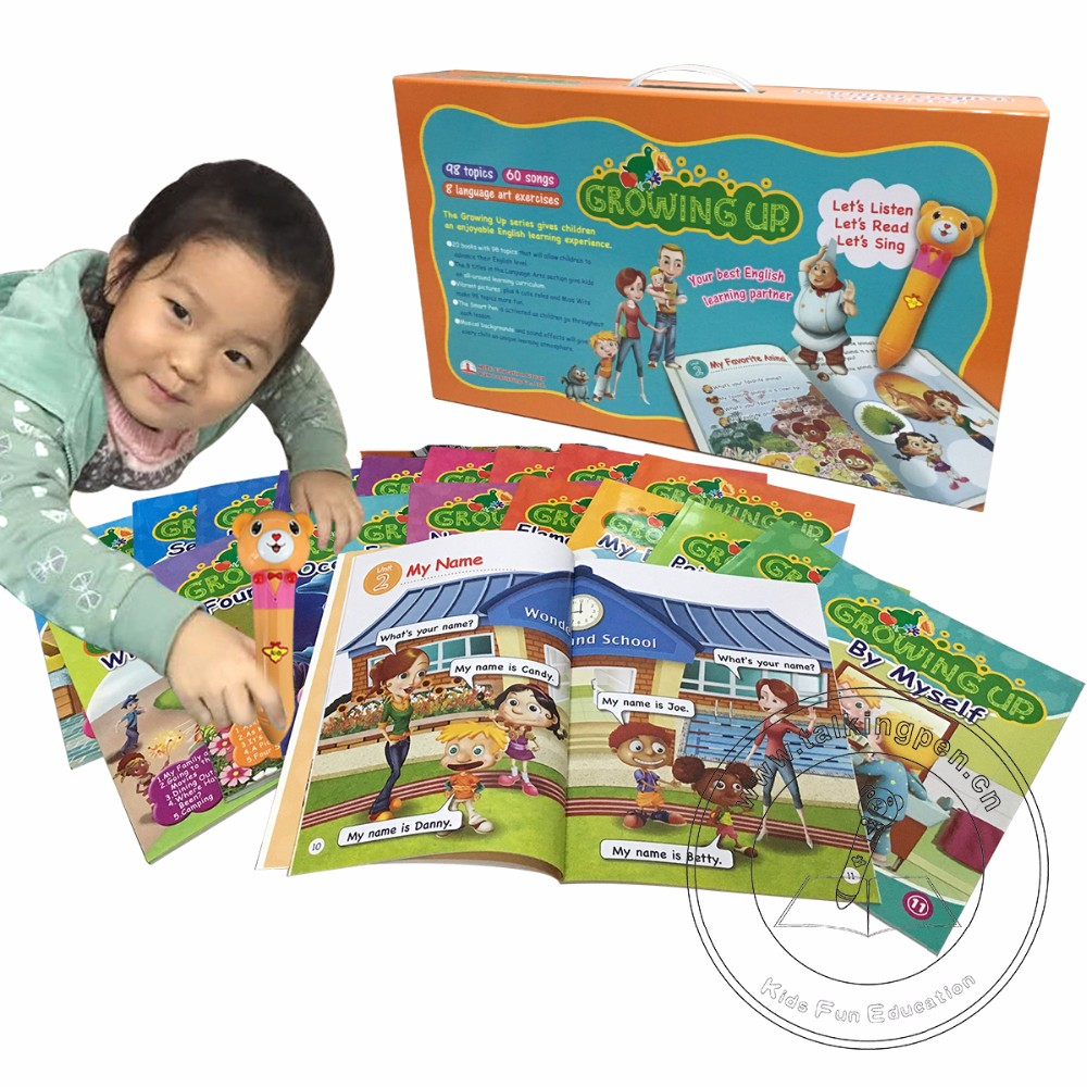 Kids Fun Education Smart Learning Reading Pen English Book Growing Up