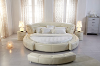 King size round leather bed on sale