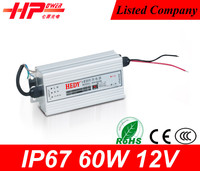 Guangzhou high warranty waterproof led power supply constant voltage single output 60w 5 ampere 12v open frame led driver