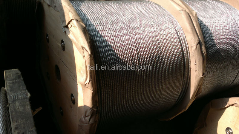 6*7+IWS Hot Dipped Galvanized Steel Wire Ropes