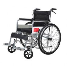 Economy aluminum folding travelling wheelchair for elderly people