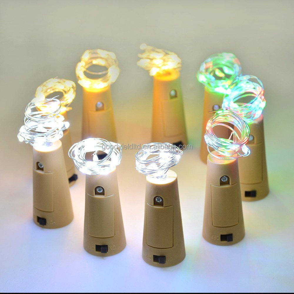 Bottle stopper design 15 Leds Copper String Light