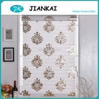 2016 new roller blinds style, European adhesive shangri-la blinds, gold printed window blinds for home decor