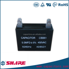 capacitor for exhaust fan and ventilators cbb61 electric fan capacitor