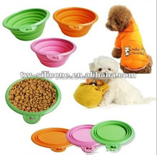 Non-slip Promotion Dog bowl Silicone Folding pet bowl