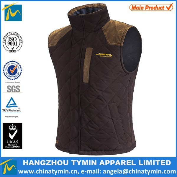 men 100% polyetser quilted bodywarmer