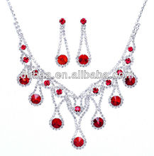 Fashion Crystals Bridal Wedding Jewelry Set Accessories,Necklace & Earrings Set