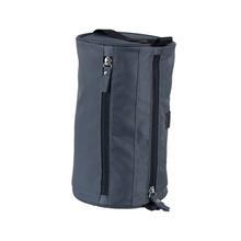 Wholesale outdoor barrel shaped travel cosmetic bag nylon toiletry bag men